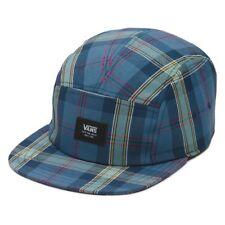 VANS Off The Wall COWPER Men's Camper Hat Cap Strapback Blue Plaid Rare NEW