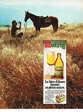 PUBLICITE  1973   MUTZIG  bière d'ALSACE en pleine nature