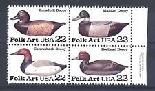 USA - 1985 - Artigianato popolare (5). Anatre da richiamo in legno