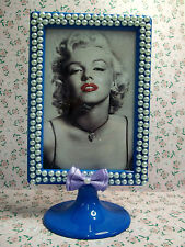 Marylin Monroe Photo Frame Cornice Porta foto Decorata Fimo Kawaii Perle Cake