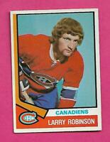 1974-75 OPC # 280 CANADIENS LARRY ROBINSON 2ND YEAR EX+ CARD (INV# C9673)