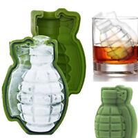 3D Eiswürfelform Backform aus Silikon Handgranate Grenade Party Ice Cube Eisform