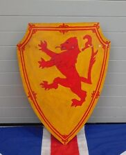 ANTIQUE THEATRICAL PLY WOODEN ENGLAND SCOTLAND RAMPANT LION  DECORATIVE SHIELD