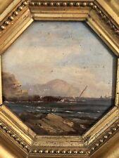 Dipinto Antico: Scorcio Di Mare Epoca 1800