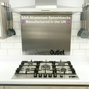 SAA Aluminium Metal Kitchen Cooker SPLASHBACK Bespoke Sizes Made To Order in UK
