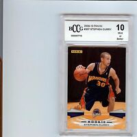 2009-10 PANINI #307 STEPHEN CURRY WARRIORS ROOKIE BCCG 10 NOT BGS PSA 9.5