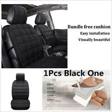 1X BLK Car Seat Cover Winter Warm Auto Front Backrest Seat Cushion Pad Protector