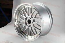 """19"""" SILVER WITH GOLD LM STYLE RIMS FIT ACURA RSX TSX TL HONDA CIVIC ACCORD MAZDA"""