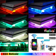 WiFi RGB LED USB Design Kühler Lüfter Ständer PS4 Playstation 4 Zubehör Wireless