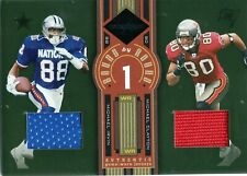 2005 LEAF LIMITED ROUND BY ROUND JERSEYS MICHAEL IRVIN & CLAYTON #D /75 RELIC SP