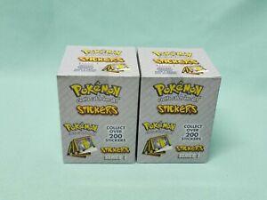 Pokemon ArtBox Sticker Serie 2 x Display / 60 Tüten / 600 Sticker