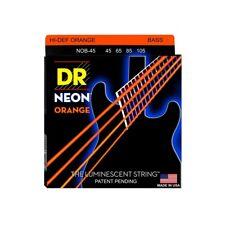 DR Strings NOB-45 Nickel Coated Hi-Def Orange Bass Guitar Strings, Medium, 45...