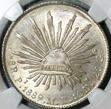 1889-Pi NGC MS 64 Mexico 8 Reales Potosi Mint Silver Coin (20092801C)