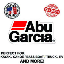Abu Garcia Decal Sticker For Kayak Canoe Truck Bass Boat RV and More!