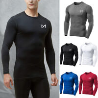 MEETYOO Mens Sport Thermal Base Layer Long Sleeve Compression Top Workout Gym