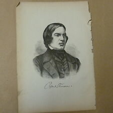 PRINT / CUTTING of -R.SCHUMANN- for framing / decoupage / crafts / card making