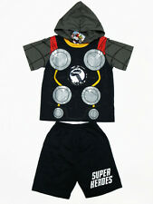Thor The Avengers Cotton Kid Fancy Boy Outfit Suit T-Shirt+Shorts Size 5 age 4-5