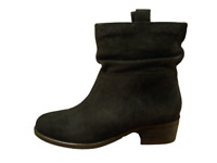 Next Boots Black Leather Suede Ankle Low Block Heel Ladies Size 7 to 7.5 RRP £55