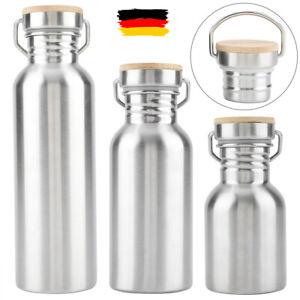 350/500/750ML Edelstahl Wasserflasche Trinkflasche Sport Fahrradflasche Camping