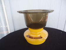vintage retro sabco gourmet 2kg 4lb kitchen scales mixing bowl orange