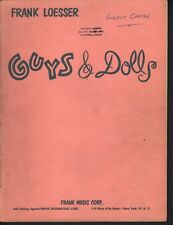 Guys and Dolls 1953 Score Sheet Music