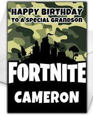 Fortnite Birthday Card - Personalised - Son Grandson Brother Boy Children - D6