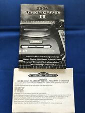 Sega Mega Drive 2 Console Instruction Manual/Book/Booklet