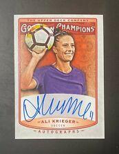 2020 UD Goodwin Champions #A-AK Ali Krieger 2019 Update Autograph Auto