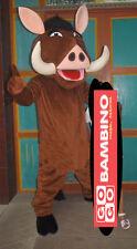 Pumba King Mascot Costume - Lion Hog Pig Outfit - Simba Character Peppa