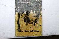 20436 El Zoodirektor Ullrich Dresden Erzählt menos De Leones Y Masai Viaje 1956
