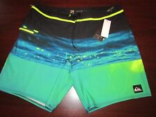 mens quiksilver dryflight board shorts 38 nwt $49.50 hold down multi stripe