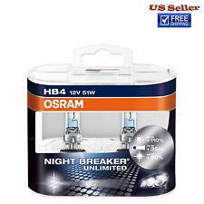 Osram Night Breaker Unlimited 9006 HB4 Bulbs 51W Brand New Pair