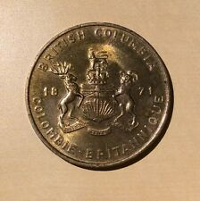 British Columbia 1871 Confederation Pacific Dogwood Medallion