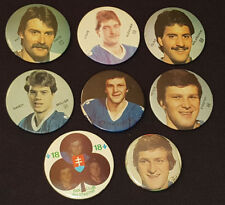 1980'S - QUEBEC NORDIQUES - NHL - PIN BACK BUTTONS - (8)