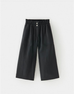 Zara  Kids Girls Culottes Capri With Snap Buttons 10 Years (55,1 Inches) Black