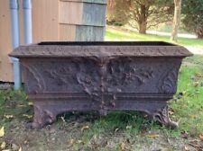 Great Victorian Antique Cast Iron Outdoor Garden Planter *Free Shipping*