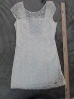 NEW HOLLISTER DRESS LACE OPEN BACK WHITE SIZE 3
