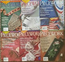 Piecework magazines 1999 Lot of 6  needlework And History Hand in Hand