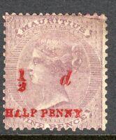 Mauritius 1876 dull-purple 1/2d on 9d no watermark mint SG78