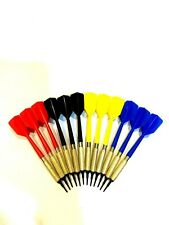 Viper Plastic Soft Tip Darts, Lot of 12 Assorted Colors by GLD