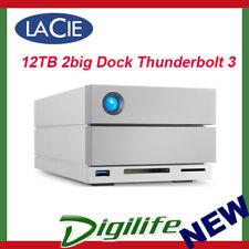 LaCie 12TB 2big Dock Thunderbolt3 & USB 3.0 External Desktop Hard Drive