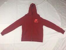 Nike Track and Field Zip Hoodie Sweatshirt Large L Red