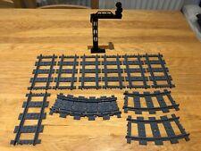 LEGO Train Track - Straight + Flexible + Curved + Traffic Light Signal