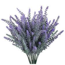 4pcs Artificial Plastic Lavender Bouquet in Purple Flowers Arrangements Bri G3U7