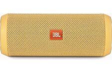 JBL Flip 3 Yellow Splashproof Portable Bluetooth Speaker with Microphone & US...