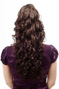 Voluminous Flowing Hair Piece Braid Curly Very Long Braun Clip On 23 5/8in
