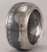 """TOP QUALITY~MORGAN DOLLAR SILVER COIN RING~""""HEADS OUT"""" ANY SIZE FROM 10-14"""