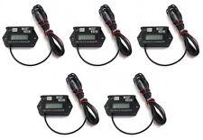 (5) Tiny Tach TT2AM Digital Hour Meter / Tachometers Adjust Resettable Job Timer