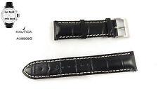 Nautica Ersatzband A29505G BFC Chrono - Uhrenarmband Leder schwarz - A29504G