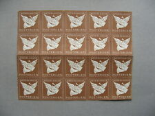 NETHERLANDS, 20x PTT seal for damaged letters, brown